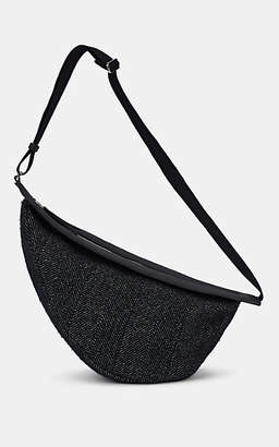 The Row Women's Slouchy Banana Large Cashmere Knit Bag - Black