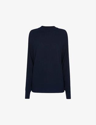Whistles Dolman brushed silk-blend jumper