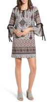 Everly Women's Print Tie Sleeve Shift Dress