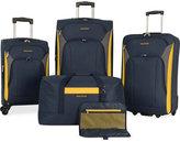 Nautica Open Seas 5 Piece Spinner Luggage Set