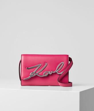 Karl Lagerfeld Paris K / Signature leather belt bag