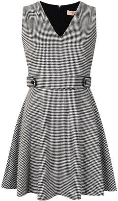 Twin-Set dogtooth V-neck dress