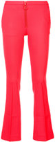 Off-White flared trousers - women - Polyester/Spandex/Elastane/Wool - 36