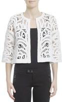 Snobby Sheep Women's White Cotton Jacket.