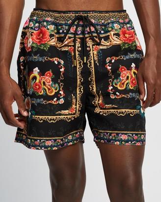 Camilla Men's Black Boardshorts - Elastic Waist Boardshorts - Size S at The Iconic