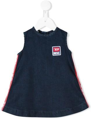 Diesel Side Stripe Logo Patch Dress