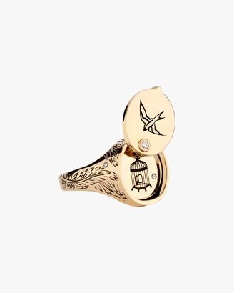 Dru Diamond Gilded Cage Ring
