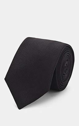 Barneys New York Men's Woven Silk-Cotton Necktie - Black