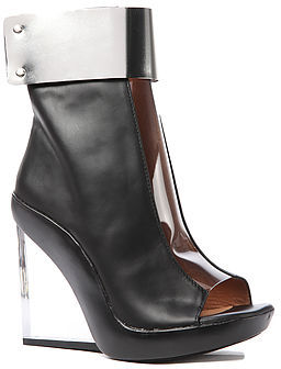 Jeffrey Campbell The Roni Shoe in Black Leather with Metal Cuff