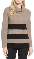 Halogen Ribbed Cashmere Turtleneck Sweater (Regular & Petite)