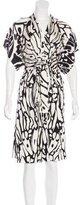 Issa Silk Abstract Print Dress
