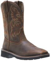"Wolverine Men's Rancher Square Toe 10"" Wellington Boot"