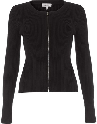 Phase Eight Ramona Zip Rib Knit Jacket