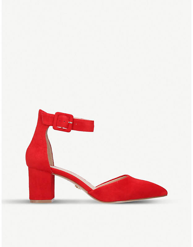 c7117fda1b8 London Burlington pointed toe suede court shoes