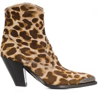 Golden Goose Leopard-Print Boots