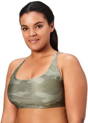 Core 10 Amazon Brand Women's Plus Size Printed Strappy Back Yoga Sports Bra