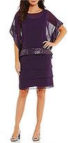 Le Bos Tiered Sequin Popover 2-Piece Dress