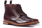Grenson Fred Chestnut Leather Brogue Boots