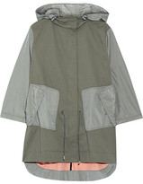 Tim Coppens Layered Shell-paneled Stretch-cotton Parka - Army green