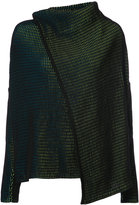 Issey Miyake embroidered knitted top