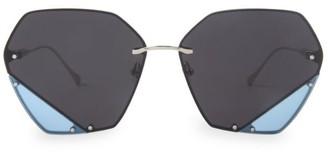 For Art's Sake Icy 62MM Geometric Sunglasses