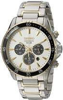 Seiko Men's 'Chronograph' Quartz Stainless Steel Dress Watch (Model: SSC446)