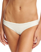 Vitamin A Luciana Patterned Hipster Swim Bottom, Beige