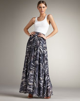 Torn Madison Pleated Maxi Skirt