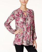 Style&Co. Style & Co. Paisley-Print Keyhole Top, Only at Macy's