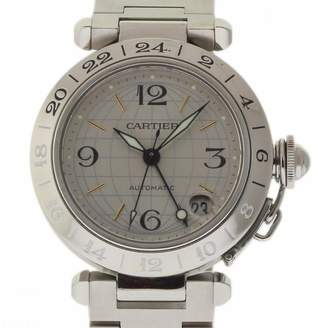Cartier Pasha GMT Silver Steel Watches