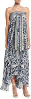 Camilla Long Sarong Printed Coverup Dress