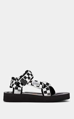 Suicoke Women's Checkerboard Nylon Slingback Sandals - Black