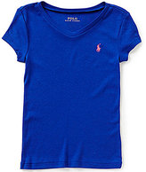 Ralph Lauren Big Girls 7-16 Short-Sleeve V-Neck Tee