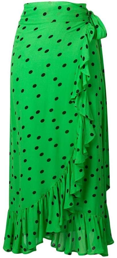 Ganni Georgette long skirt