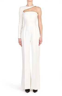 Stella McCartney Lyta One-Shoulder Illusion Jumpsuit