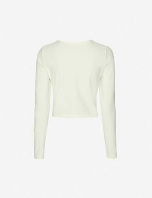 Reformation Lyon stretch-organic cotton top