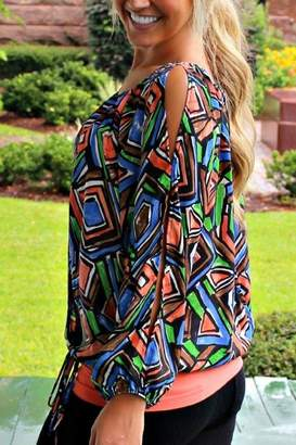 Glam Patterned Gypsy Blouse