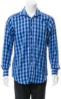 Etro Plaid Button-Up Shirt