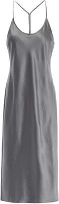 Alexander Wang Crinkled-satin Midi Slip Dress