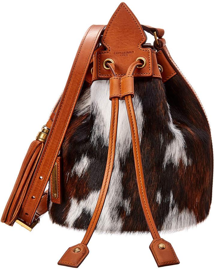 b1cc99573a Small Anja Tassel Leather & Haircalf Bucket Bag