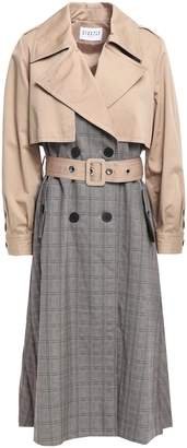 Claudie Pierlot Gina Pleated Paneled Cotton Trench Coat
