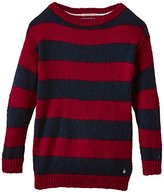 Tommy Hilfiger Tommy Girl's Violet BN Sweater Long Sleeve Striped Top
