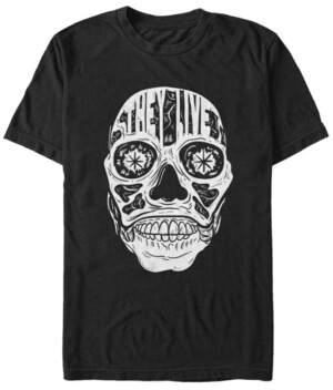Fifth Sun they Live Men's Skeleton Face Text Short Sleeve T-Shirt