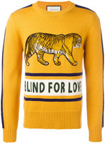 Gucci Blind For Love jumper - men - Polyamide/Wool - XS
