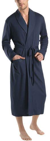 Hanro Night & Day Knit Robe, Black Iris
