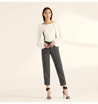 Amanda Wakeley Black Ecru Check Tailoring Peg Pant