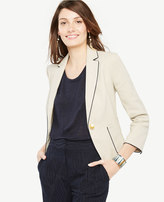 Ann Taylor Tall Piped Linen Blend Blazer