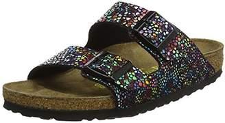 Birkenstock Arizona, Women's Heels Sandals Open Toe Sandals, Multicolour (Multicolore Oriental Mosaic Black), (37 EU)