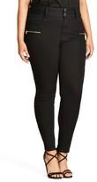 City Chic Plus Size Women's Jet Apple Stretch Skinny Jeans