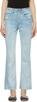 Helmut Lang Blue High-Rise Crop Jeans